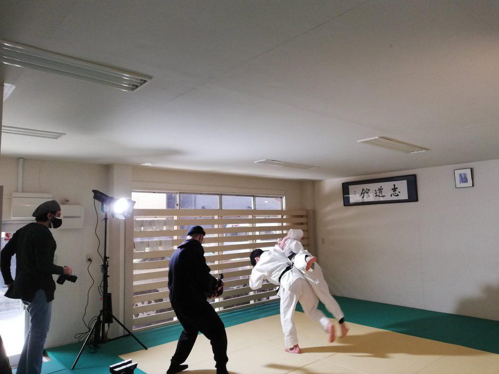 投げ技の撮影